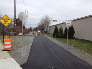 A newly paved stretch of trail in Revere.