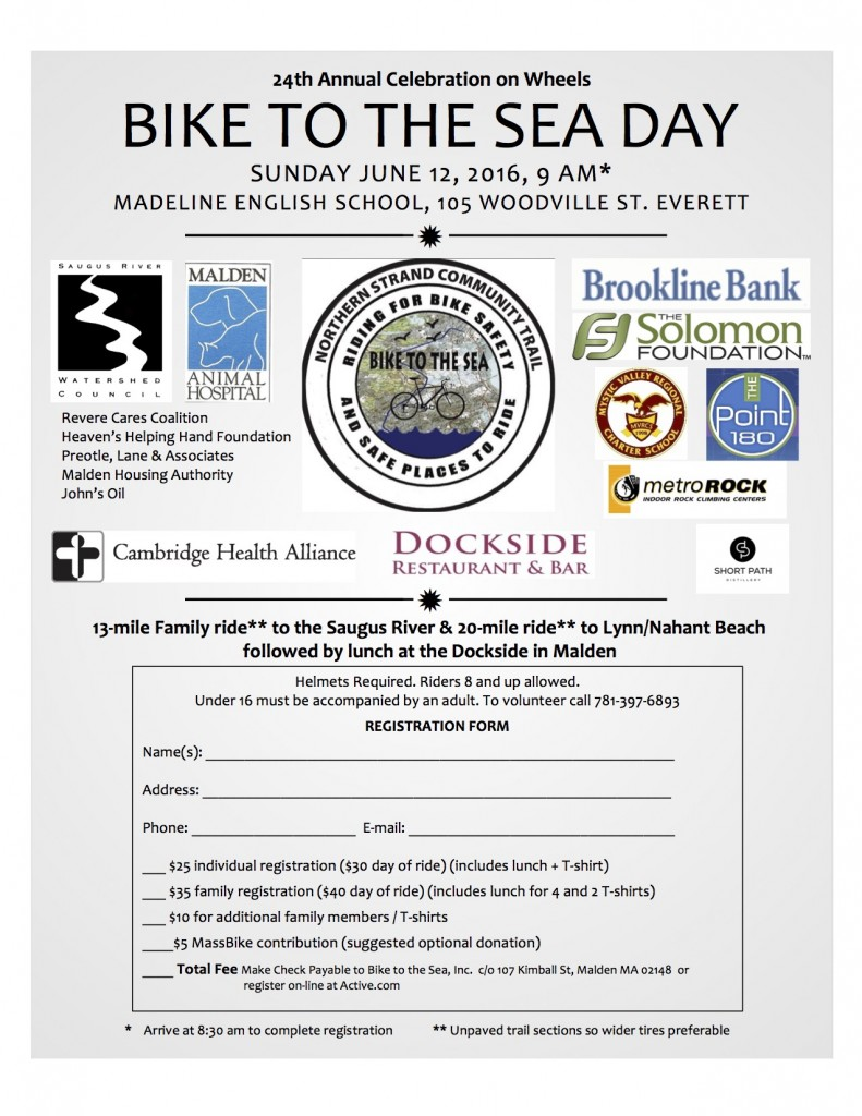 Bike to the Sea Day Registration Flyer