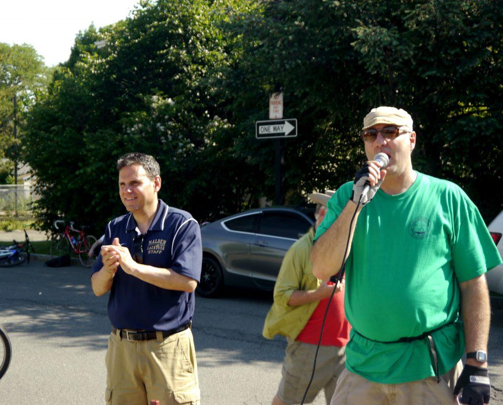 Steve Winslow and Mayor Christenson.