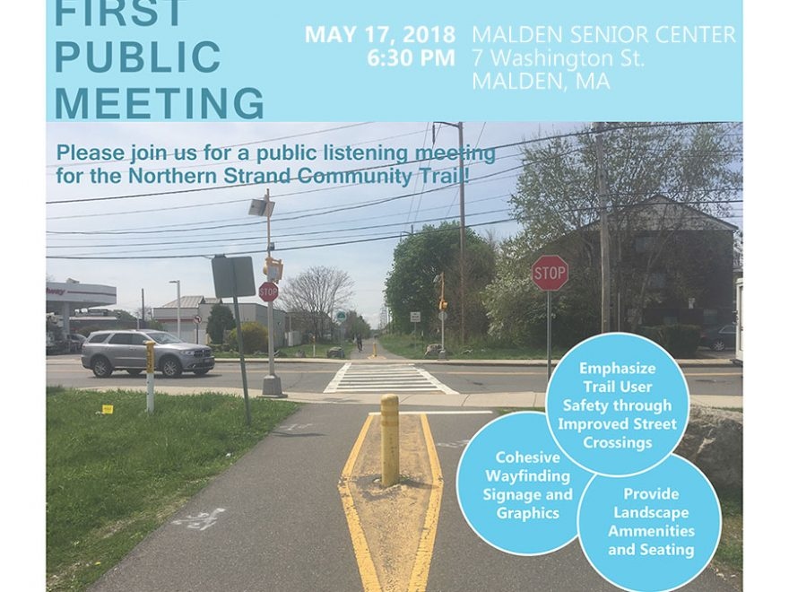 Flyer on public meeting in Malden.