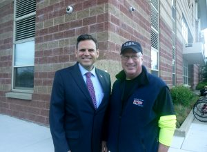 Malden Mayor Gary Christenson with Lynn Mayor Gary Christenson.