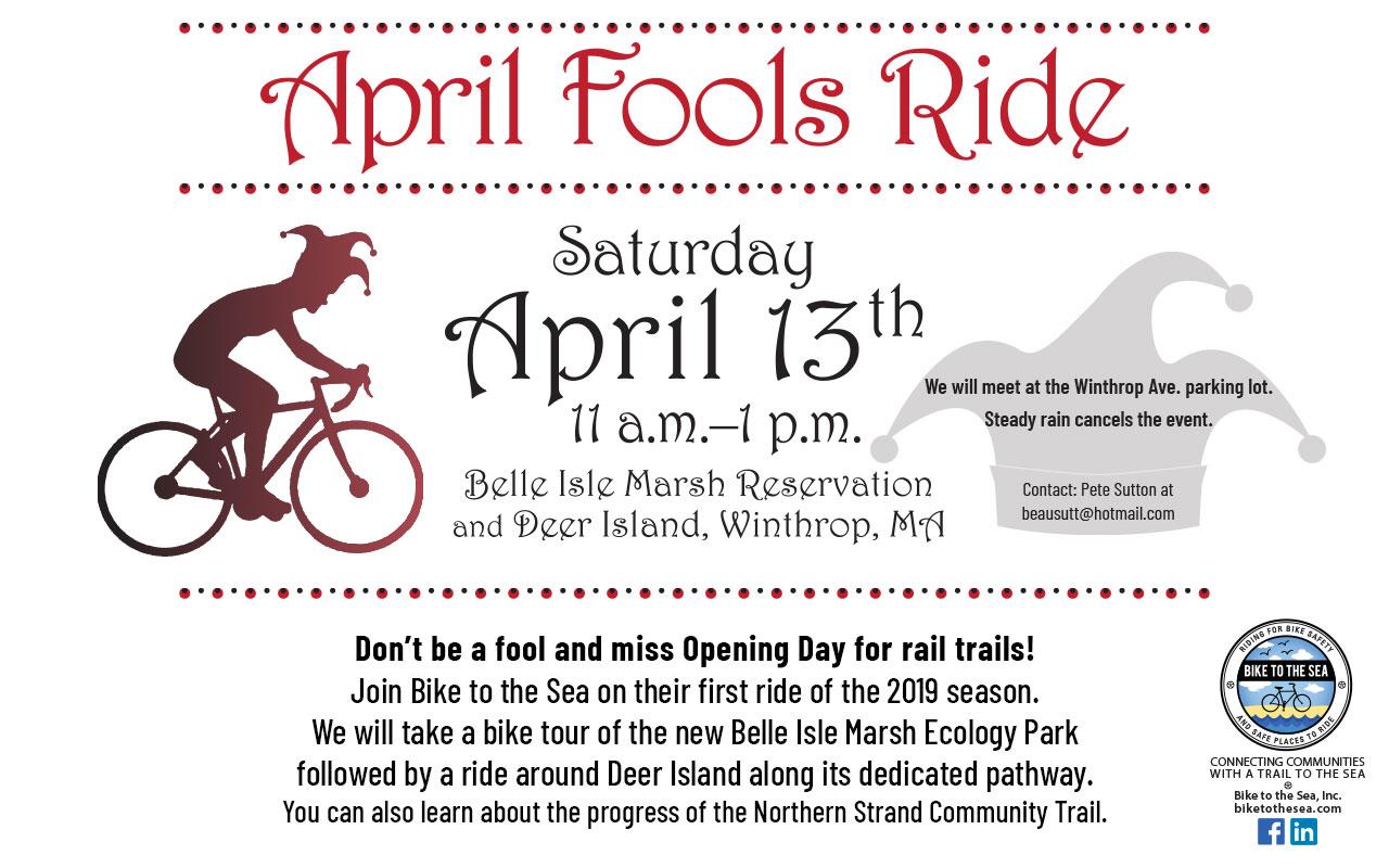 Winthrop Calendar 2019 2019 April Fools Ride – Belle Isle Marsh and Deer Island, Winthrop